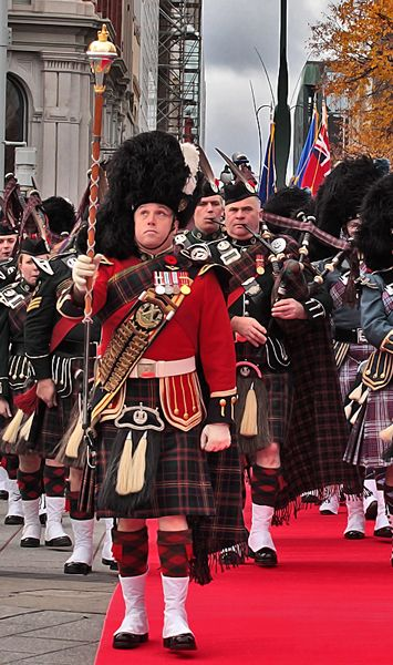 Remembrance Day and Bagpipes, Ottawa, Canada.