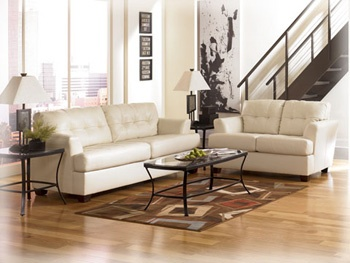 Nebraska Furniture Mart Ashley Ivory Durablend Living Room Set Would Have To It In A Different Color