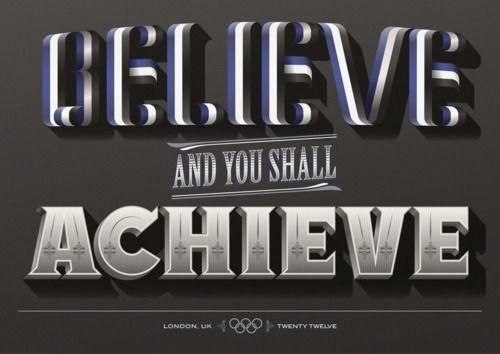 Lettering for London Olympics by Steven Bonner: Achievement, Quotes, Art, Types Design, London Olympics, Olympics 2012, Typography, Photo, Steven Bonner