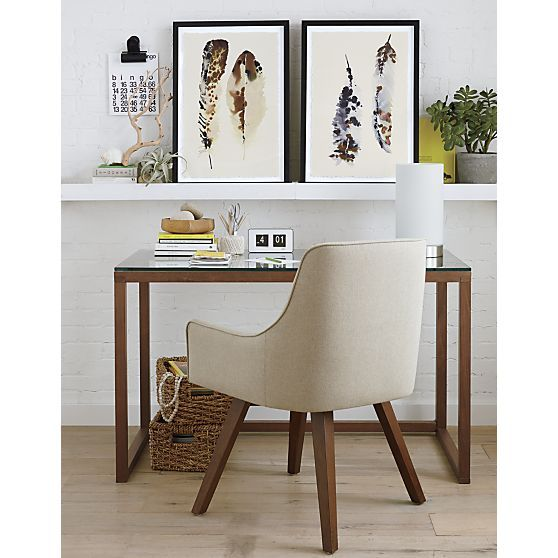 Marco 42 Quot Desk Herringbone Feathers And Blank Canvas
