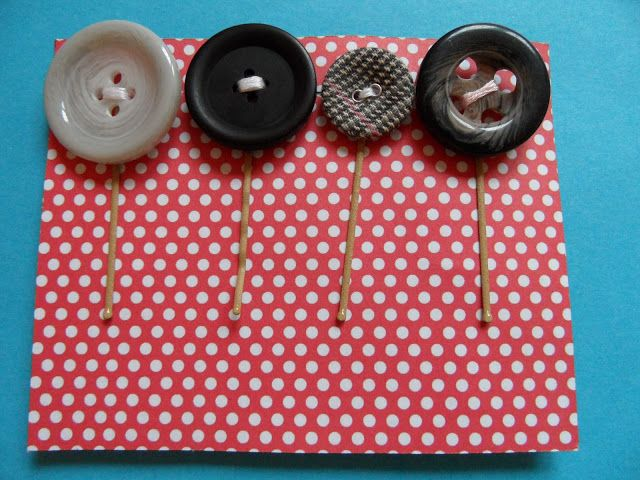 Button bobby pins by  Craft with Ruth Cartwright
