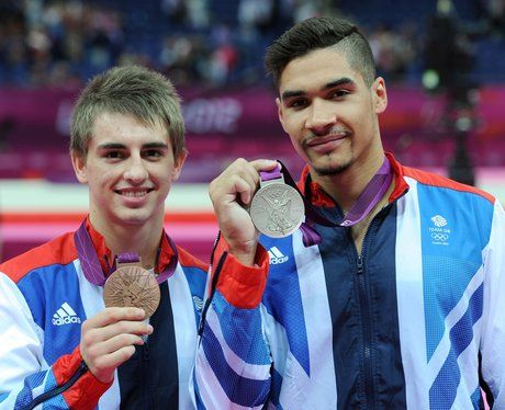 GB's Men's Pommel Horse bronze medalist Max Whitlock and silver medalist Louis Smith.