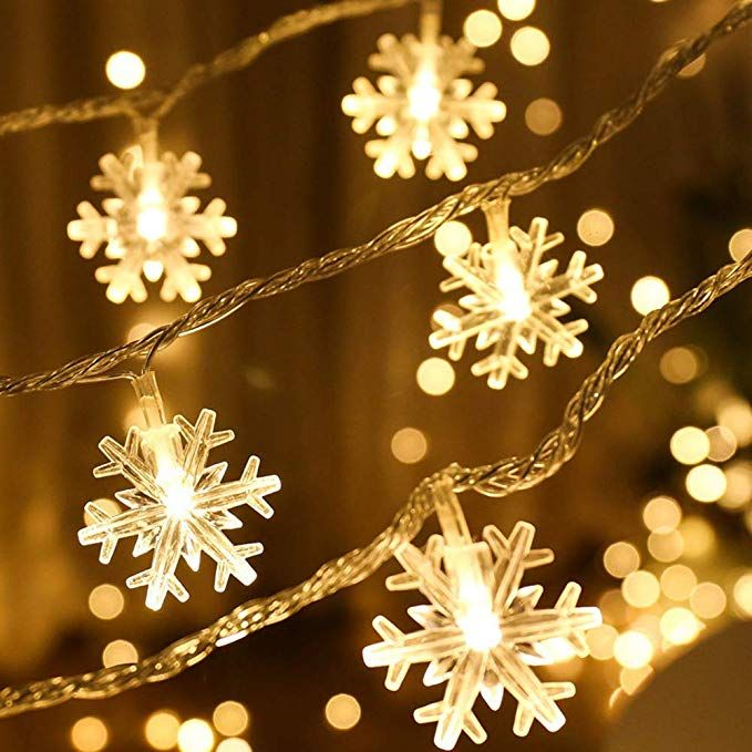 Cool White Snowflake LED String Fairy Light Battery Operated Xmas Party Wedding
