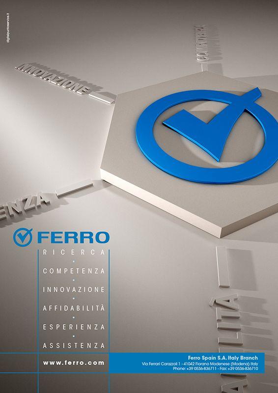 FERRO  Pagina pubblicitaria istituzionale FERRO per Smalto Porcellanato.  www.digitalpuntoservice.it