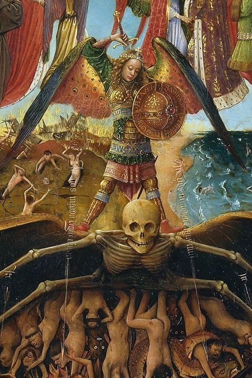 St. Michael- The Last Judgement [EYCK, Jan van Flemish Northern Renaissance (ca.1395-1441)]