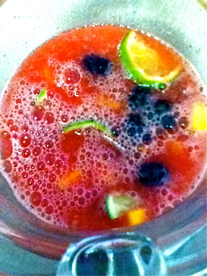Refreshing Sparkling Watermelon Sangria for #SundaySupper