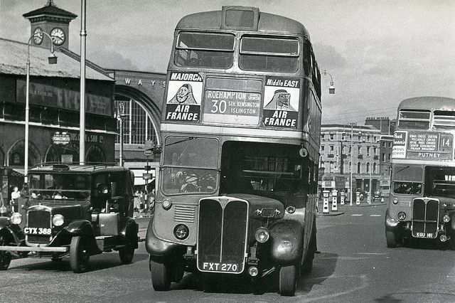 224-Kings Cross, Euston Road in the 1950's by Warsaw1948, via Flickr