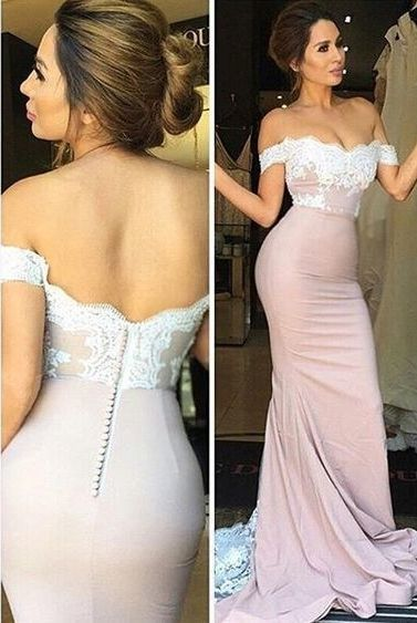 Off-shoulder Prom Dress,Mermaid Prom Dress,Lace Prom Dresses,Cap Sleeve Elegant Bridesmaid Dress,Cheap Bridesmai Dress,2017 Prom Dresses,PD00420