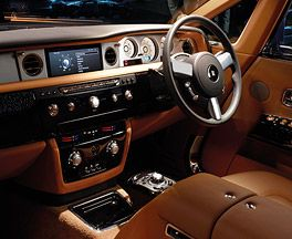El interior del Rolls Royce Phantom
