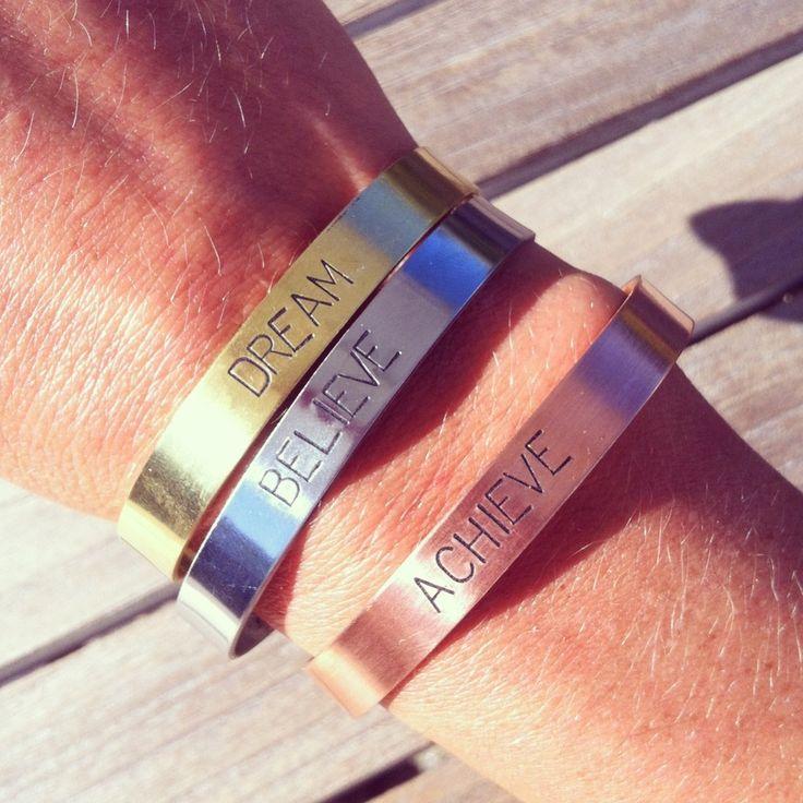 Trio bracelets gravés (cuivre laiton inox) Atelier 13 39€ - 5