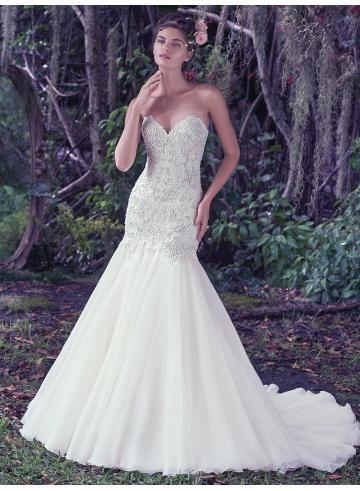 abiti da sposa da sposa guaina chiffon