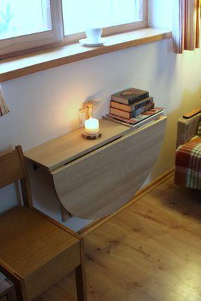 Mesa pared abatible montado plegable mesa de por GoodMoodWoods