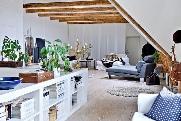 двухэтажная квартира в Швеции, скандинавский стиль