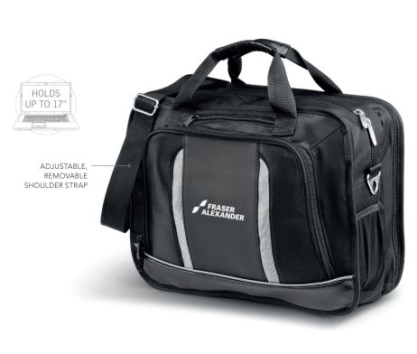 The Velocity Compu-Brief has a main zippered compartment fitted with an organisation panel, and additional zippered document divider compartment and a front pocket for all your accessories. This brief holds most 15.6″ laptops and comes with a zippered media pocket.