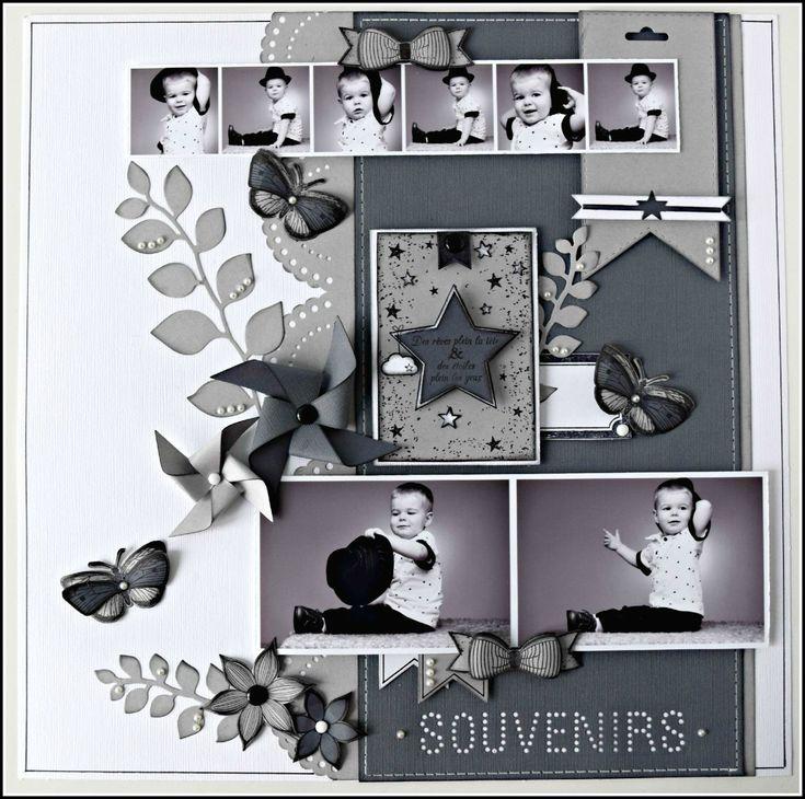 """Page """"Souvenirs"""" par Sam - Florilèges Design"""