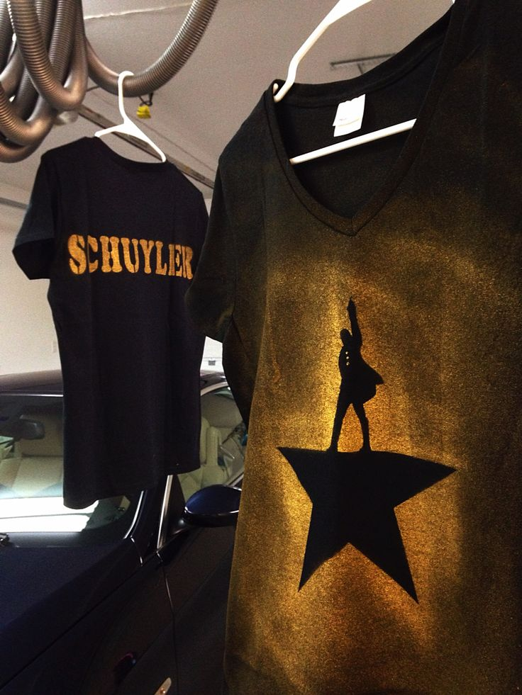Made these Hamilton the Musical shirts fit for the Schuyler sisters! Who lives?  Who dies? Who tells your story?