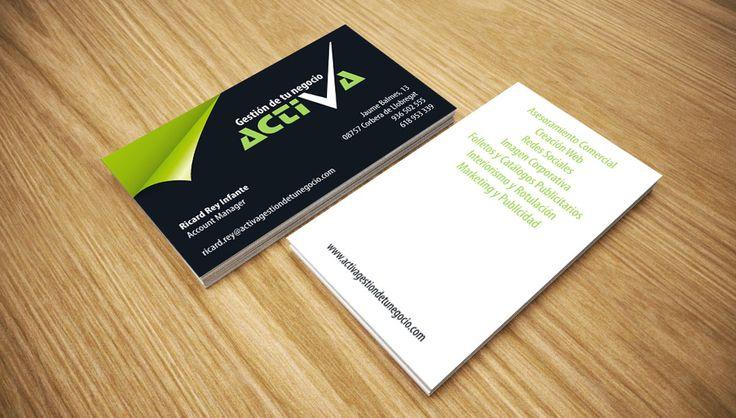 Diseño de tarjetas de visita Activa | Dolphin Tecnologías