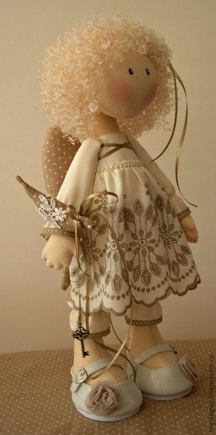 Купить Кукла текстильная Пташка ПРОДАНА - бежевый, кукла, кукла в подарок, кукла текстильная