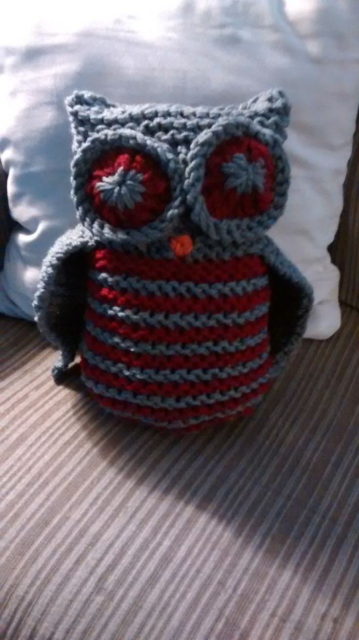 Loomed Owl Toy by Carla Wills