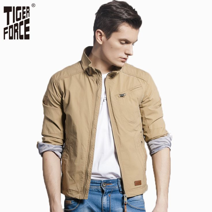 Find More Jackets Information about TIGER FORCE 2016 New Design Brand Men Fashion Casual Jacket Solid Zipper Cotton Twill Spring Jacket Coat Free Shipping 31353,High Quality coated almonds,China parka shop Suppliers, Cheap coat padded from TIGER FORCE on Aliexpress.com