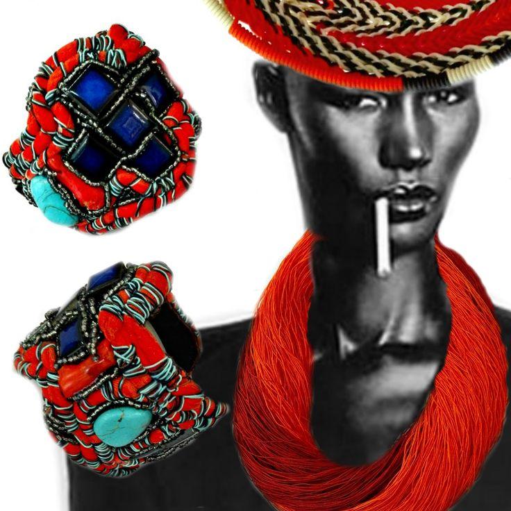 fiber necklace,textile jewellery bracelet