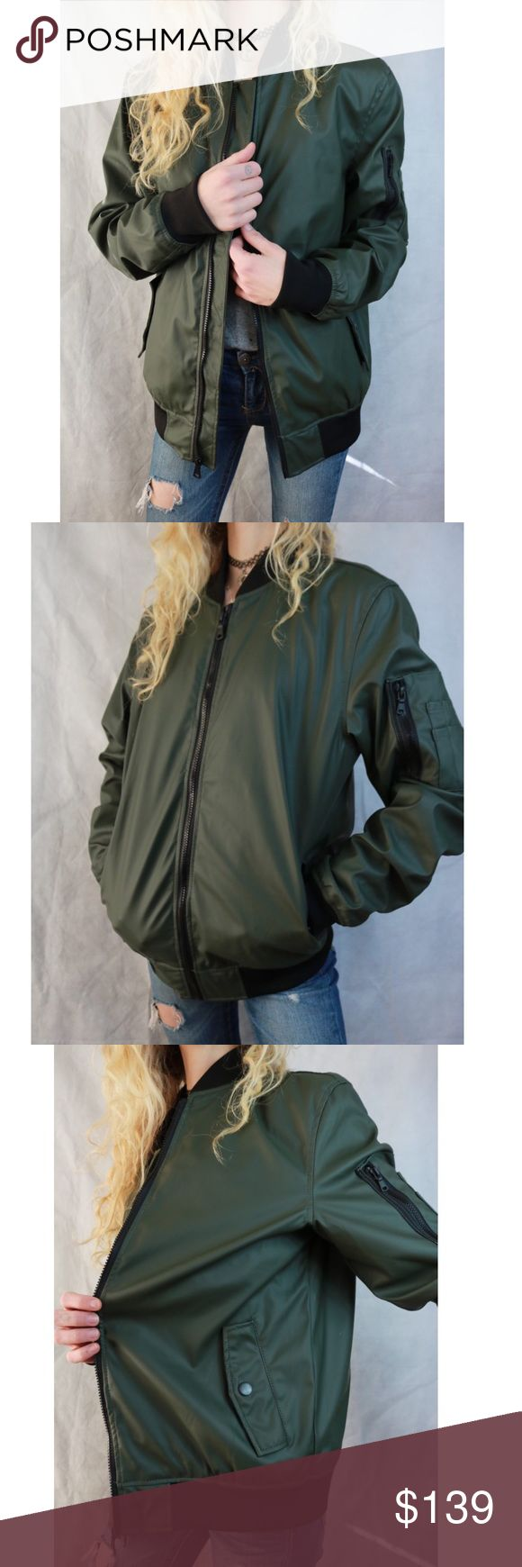 LIKE NEW Erational Matte Army Green Bomber Jacket in 2020