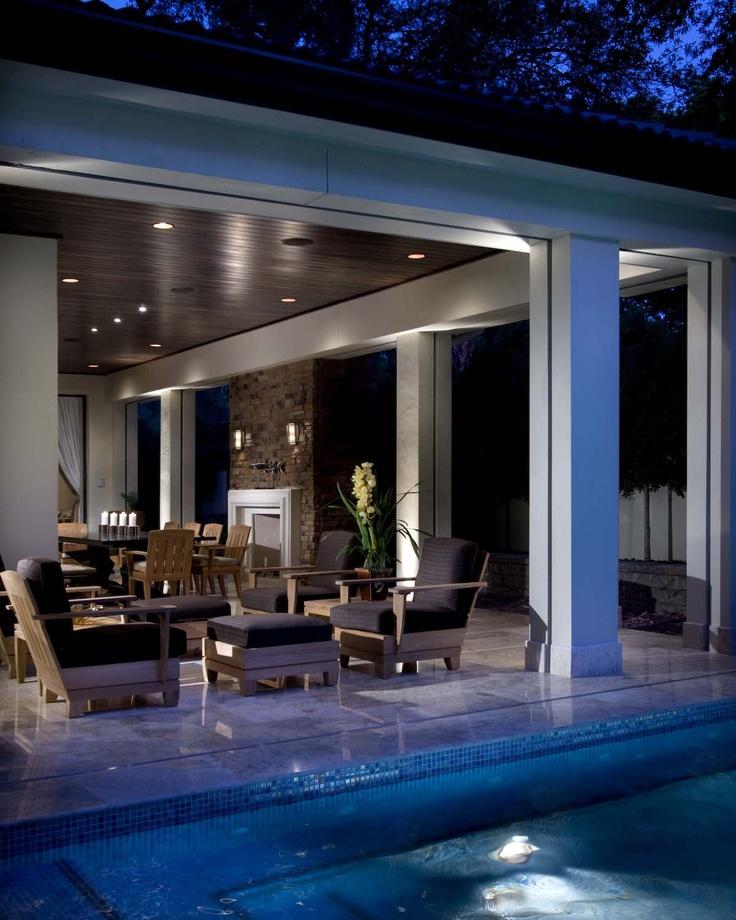 Outdoor living space by phil kean designs philkean modernhousedesigns