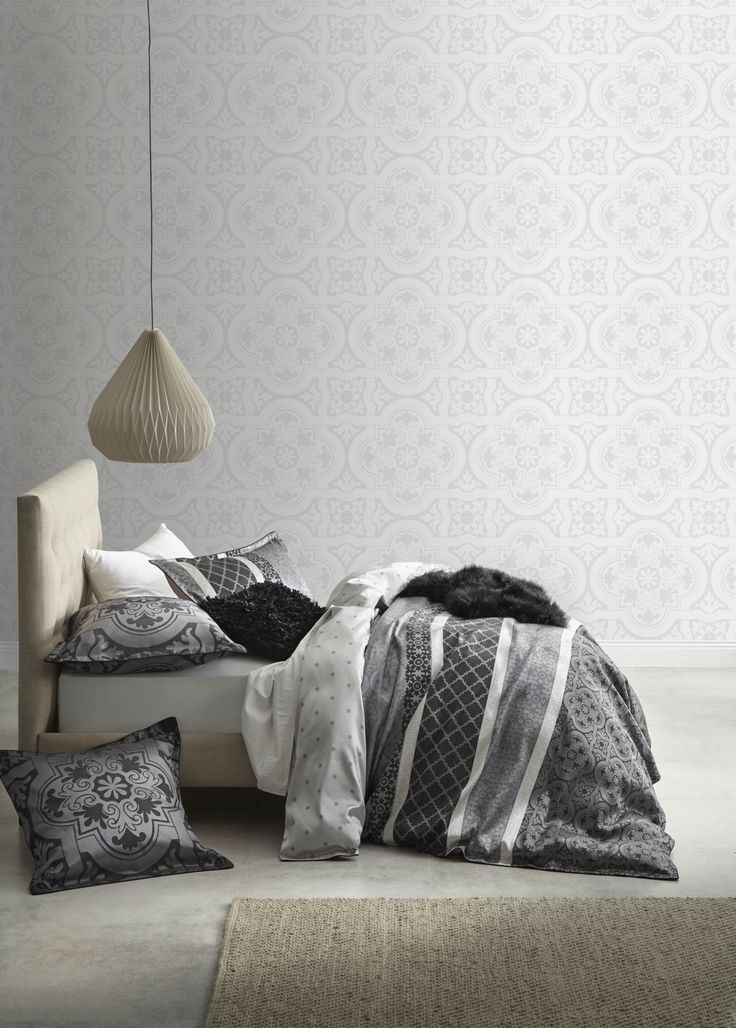 ULTIMA - Flamenco Night Quilt Cover Set #bedroom #bed #décor #style #classic #silver  #ultima #loganandmason