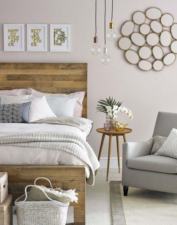 This is the headboard feel I'm looking for. Natural/rustic wood but clean/simple…