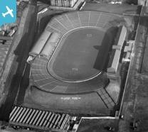 Ibrox Park, Glasgow Rangers Football Club, Edmiston Drive, Glasgow.  Oblique aer...