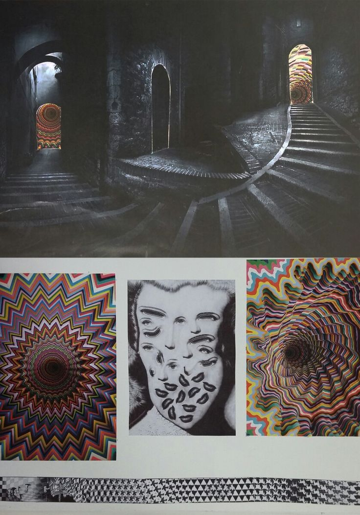 """11th / 13th - """"Stairs Road"""" / research, from left to right : Jen Stark - Lola Duprey - Jen Stark"""