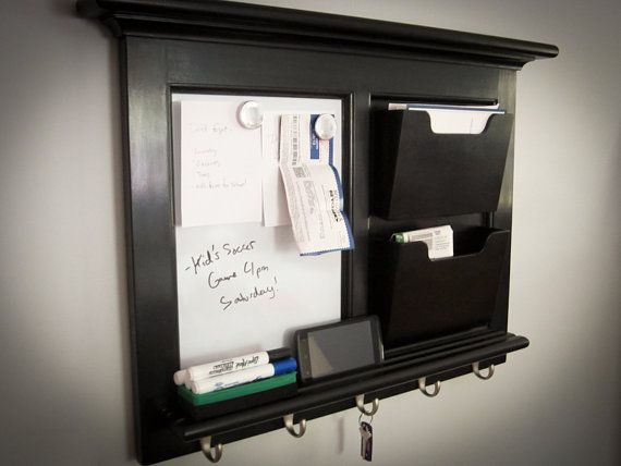 Wall Mail Organizer With Two Bo Magnetic Whiteboard Surface And 5 Satin Nickel Hooks Features Traditional Beaded Fram