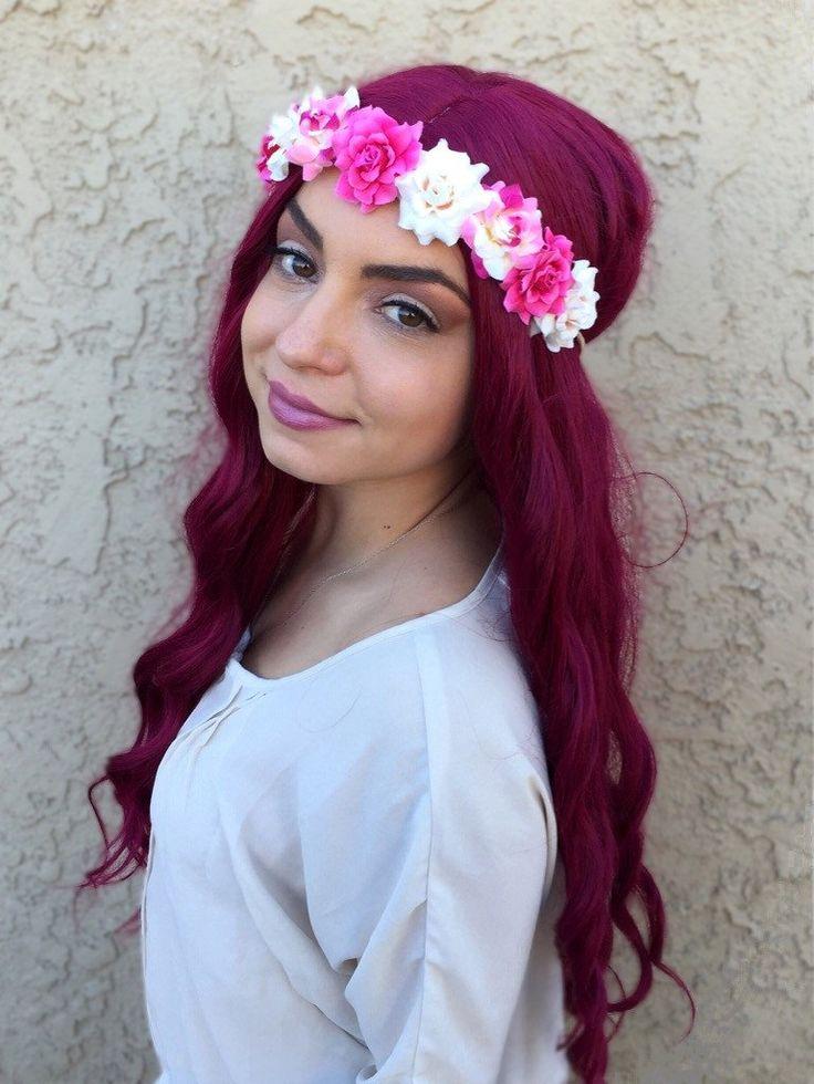 Cream Pink Rose Headband #C1073
