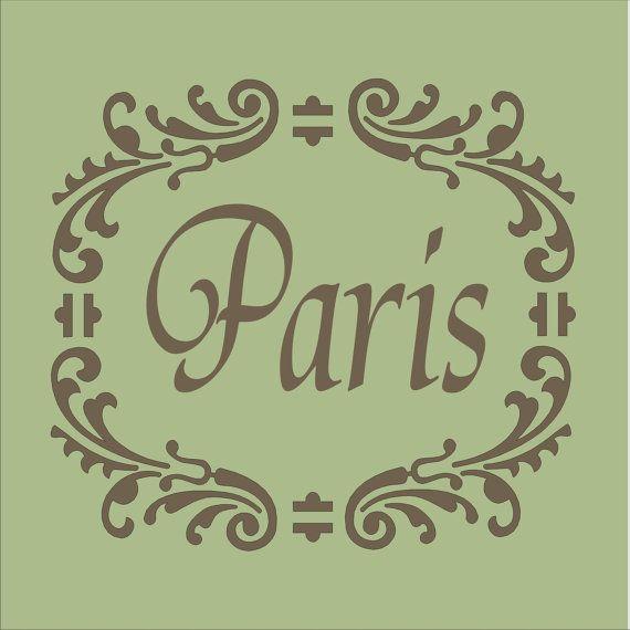 PARIS STENCIL with frame work Available in 6 por SuperiorStencils