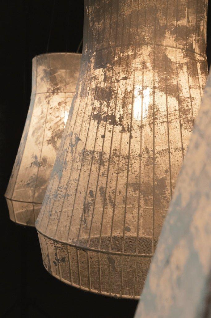 Fabric pendant #lamp ATELIER by Karman | #design Matteo Ugolini @karmansrl