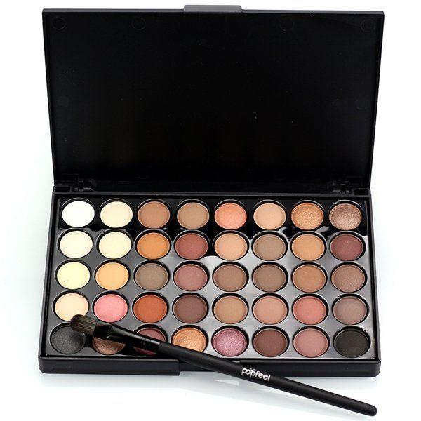 40 cores de mini sombra paleta set kit brilho brilho cosméticos maquiagem dos olhos portátil
