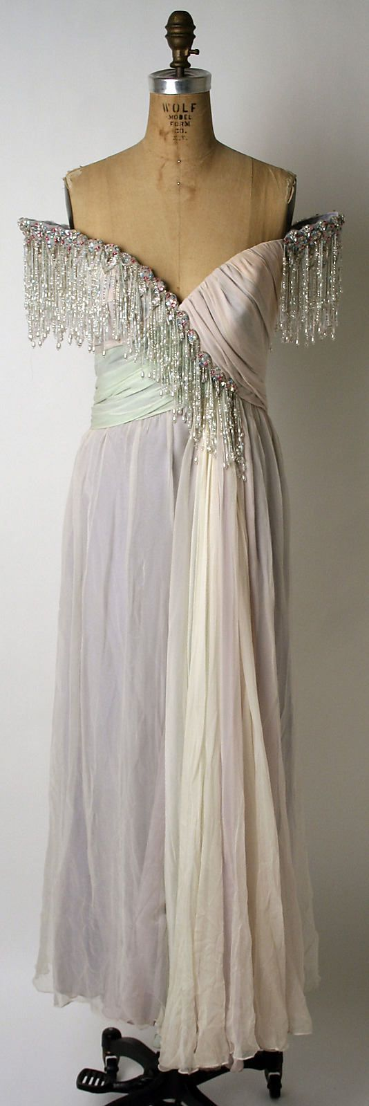 1980s Bob Mackie Evening dress Metropolitan Museum of Art, NY See more museum vintage dresses at http://www.vintagefashionandart.com/dresses