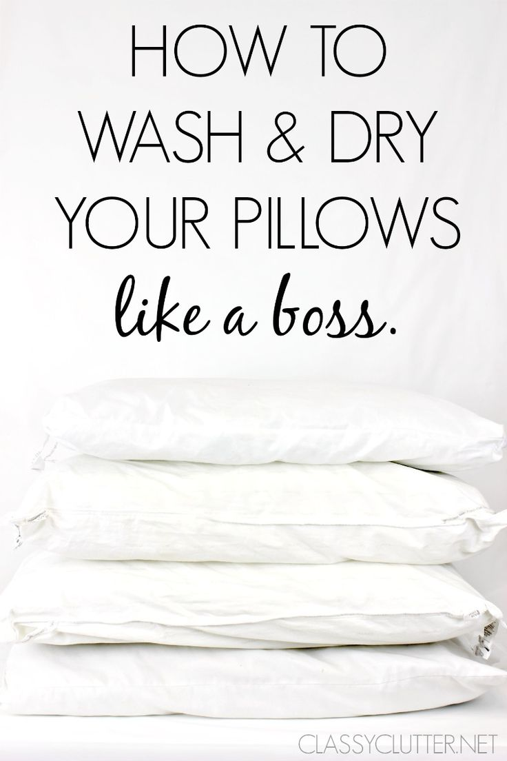 How to wash and dry your pillows