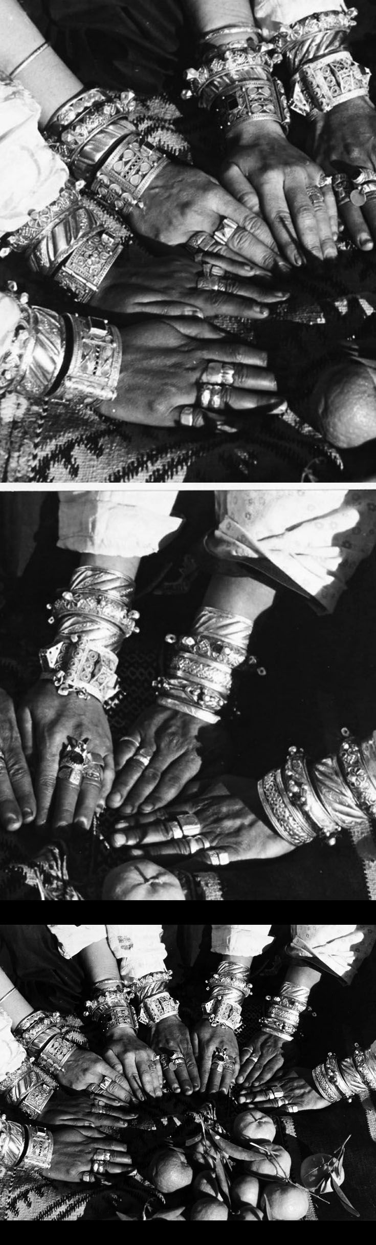 From a portfolio of prints by Jean Besancenot, documenting the costumes and jewellery worn by the women in the Anti Atlas, Middle Atlas and High Atlas region. ca. 1934 - 1939
