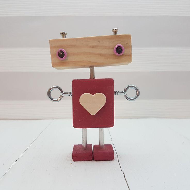 n45 serie5. Robot original de madera hecho por maderitas.es
