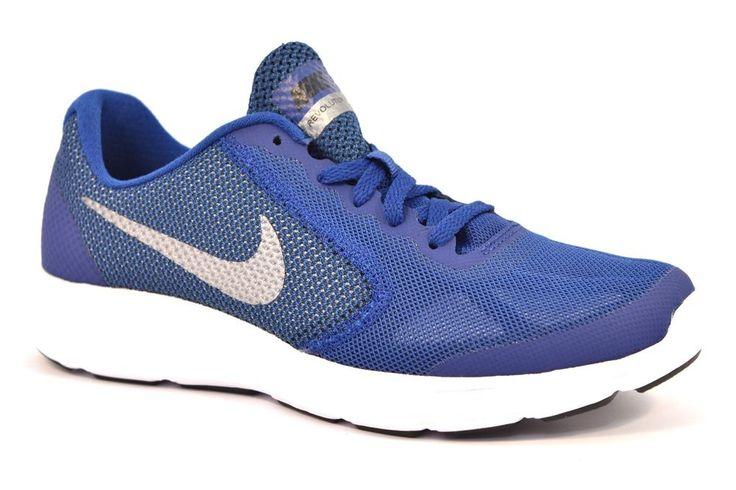 NIKE 819413 400 REVOLUTION 3 (GS) BLU GRIGIO Running Palestra Ragazzo Sneakers