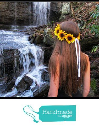Sunflower crown, sunflower headband, sunflowe headpiece, Sunflowers, Halo, Hair…