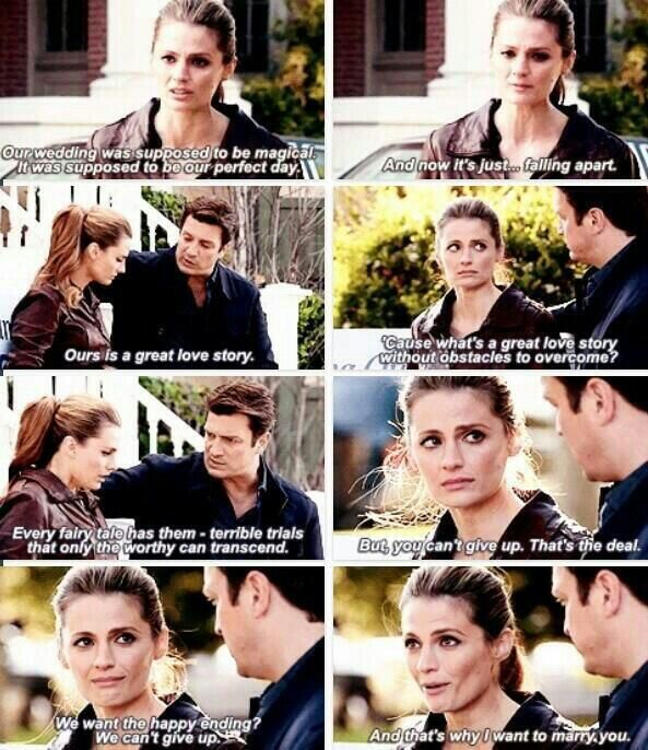 This scene was so cute because despite being a man child, when it comes to serious stuff Castle has the wisdom, maturity, and patience of a 100 year old man <3