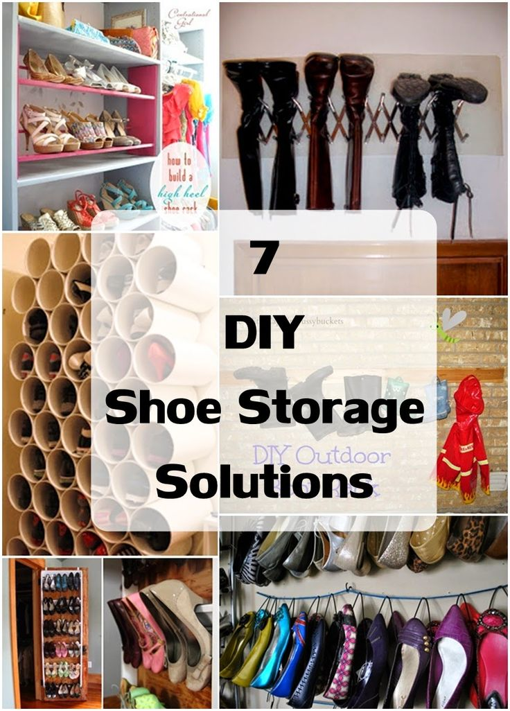 Creative shoe storage solutions 28 images awesome best for Diy shoe storage ideas for small spaces