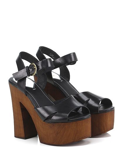 Windsor Smith - Sandalo alto - Donna - Sandalo alto in pelle con cinturino alla caviglia e suola in gomma. Tacco 140, platform 60 con battuta 80. - BLACK - € 130.00