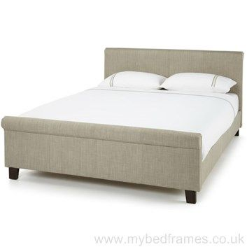 'Hazel' fabric bed frame in linen | MyBedFrames