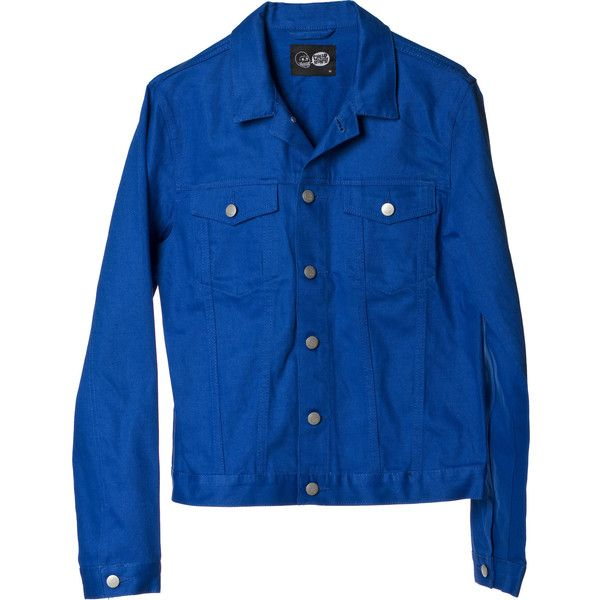 Cheap Monday Tobias Jeans Jacket Ultramarine ❤ liked on Polyvore featuring men's fashion, men's clothing and cheap monday