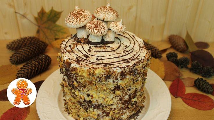 """Сметанный торт """"Трухлявый пень"""""""