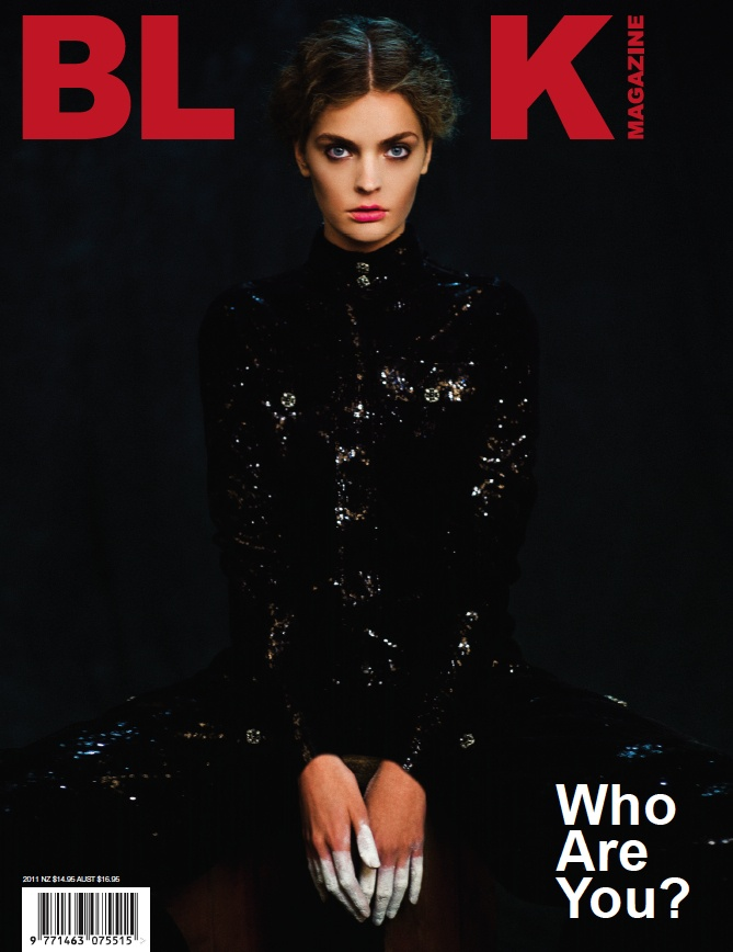 BLK #15 Cover 2. Photo: Chadwick Tyler. Fashion editor: Michelle Cameron. Hair: Shin Arima. Make-up: Valery Gherman. Model: Gertrud Hegelund at IMG New York