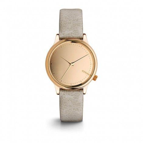 Koop dit Komono Estelle Mirror Rose Gold Grey horloge KOM-W2872 horloge online in onze webwinkel.                     Dit is een dames horloge met een quartz uurwerk.                             De kleur van de kast is rose goud en de kleur van het uurwerk is rose goud.                             De kast is gemaakt van rvs en de band van het horloge van leer.                             Het uurwerk is analoog en er wordt gebruik gemaakt van mineraalglas.                       ...